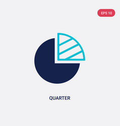 Two color quarter icon from electronic stuff fill vector