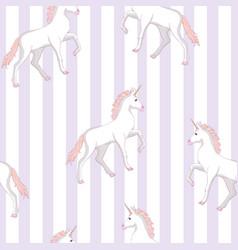 unicorn seamless pattern unicorns with rainbow vector image