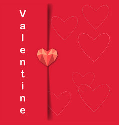 Valentine day letter of heart image vector