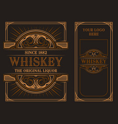 vintage label template for whiskey vector image