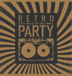 vintage party leaflet template radial rays vector image