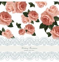 Vintage Watercolor Roses flowers vector