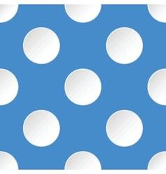 White circles pattern vector