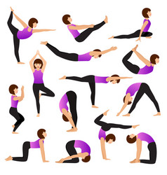 yoga woman young women yogi character vector image