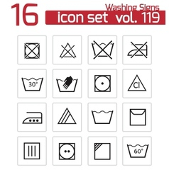 black washing icons set vector image
