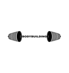 bodybuilding barbell sports accessory lifting vector image vector image