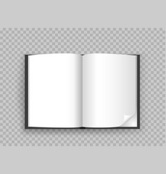 open book template transparent background vector image vector image