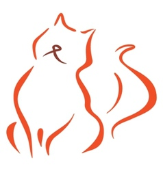 Cat symbol vector image vector image