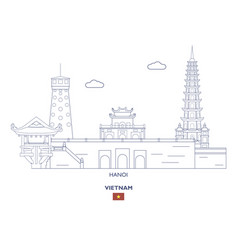 Hanoi city skyline vector