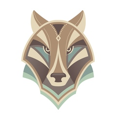 Wolf head abstract design vector image
