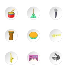 Device for music icons set cartoon style vector image vector image