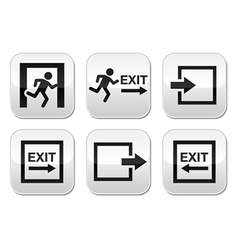 Emergency exit buttons set vector image