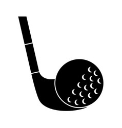 golf club and ball sport recreation vector image