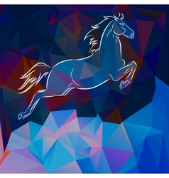 horse sign 2014 vector image