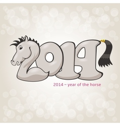 Horse stylization in 2014 form vector image vector image