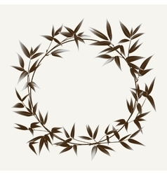 Ink paint bamboo frame vector image vector image