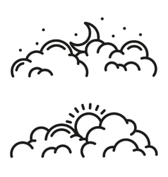 line clouds icon vector image