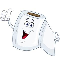 toilet paper cartoon vector image vector image