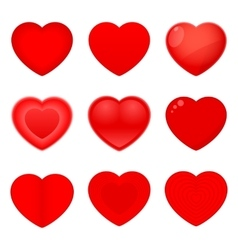 Valentines Icons Hearts vector image vector image
