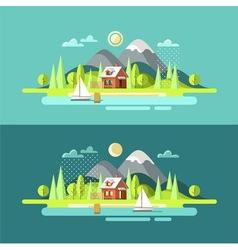 Nature Summer Landscape vector image
