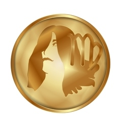 Virgo gold medallion drive vector image