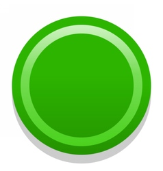 3D green blank icon in flat style vector