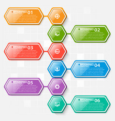 Abstract 3d paper infographics business template vector