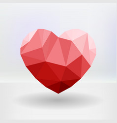 Abstract geometric heart shaped banner with vector image