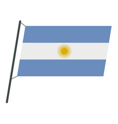 Argentina flag icon isolated vector