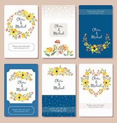 Autumn wedding graphic set vector