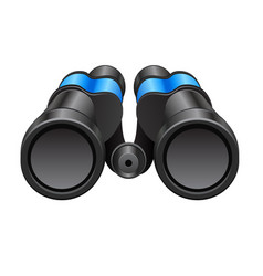 black binocular on a white background vector image