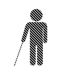 Blind disabled sign vector image