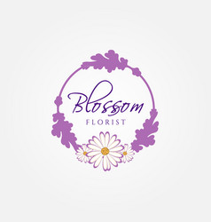 blossom florist logo sign symbol icon vector image