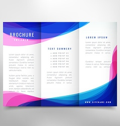 Business trifold brochure vector
