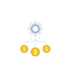 Cash flow funds optimization vector