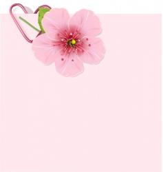 cherry blossom letter vector image