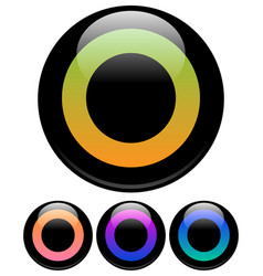 circle icons elements vector image