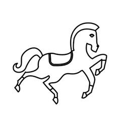 Circus horse isolated icon vector