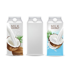 coconut milk realistic mock up milk splash vector image
