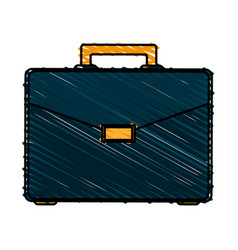 Color crayon stripe image executive briefcase with vector