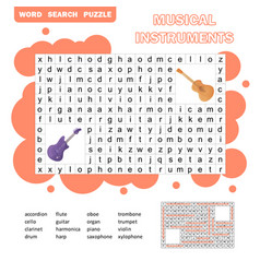 Color crossword education game for children about vector