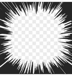 Comic Radial Speed Lines Explosion with Speed vector