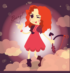 cupid girl vector image
