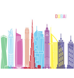 Dubai v2 skyline pop vector