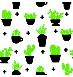 endless wallpaper with home plants scandinavian vector image