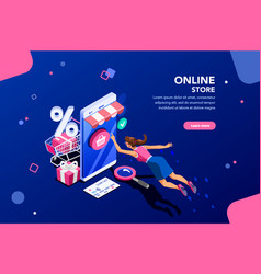 fashion store banner for homepage vector image