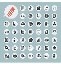 Finance icons Set on blue paper vector