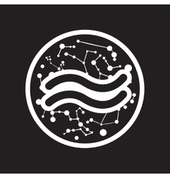 flat icon in black and white style element zodiac vector image