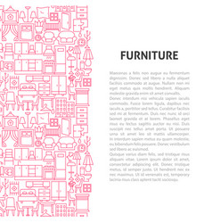 furniture line pattern concept vector image