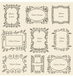 Graphic design linear monogram ornament framework vector image